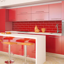 tiled effect kitchen splashback panels u2013 red tiles enhance your