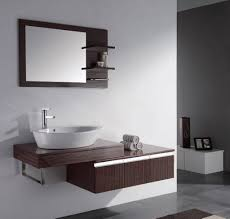 Modern Bathroom Vanities And Cabinets Modern Bathroom Sink Cabinet With Stylish Mirror And White Wall