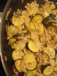 cuisiner courgettes poele fondue de poireaux et courgettes au riz les gourmandises de