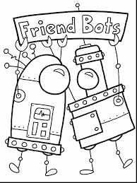 fabulous robot coloring october coloring pages