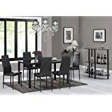 amazon com ebs 7 piece home kitchen dining room metal furniture