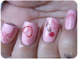 bca pink week day 1 joby nail art gnarly gnails