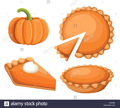 pies vector illustration thanksgiving and pumpkin pie happy