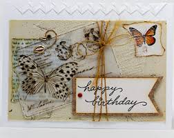 road trip birthday card paper handmade collage greeting card