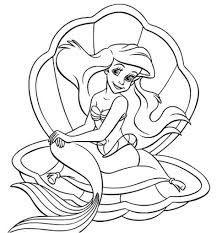 little mermaid colouring page inspiration graphic princess ariel