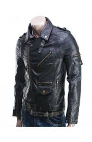 mens moto jacket men u0027s biker style asymmetrical zipper slim fit black leather jacket