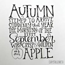 harry potter autumn handlettered quote chrystalizabeth