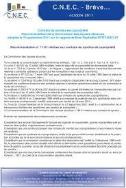chambre syndicale des syndics de copropriété recommandation n relative aux contrats de syndics de copropriété pdf