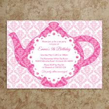 template tea party baby shower invitations