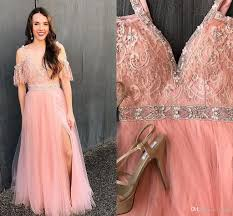 boho chic prom dress with off the shoulder beaded lace open v back