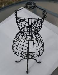 Tabletop Wire Form Decorative DRESS MANNEQUIN by MoreFriendsAndCo