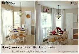 How High To Hang Chandelier Wonderful Hanging Curtains On Ceiling 2 Hang Your Curtains High