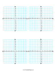 printable multiple coordinate graphs 4 per page