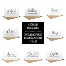Bridesmaid Card Wording Personalised Will You Be My Bridesmaid Card Wedding Card Black