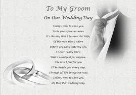 to my groom on our wedding day card my groom on our wedding day personalised gift ebay