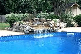 rock waterfalls for pools pool rock waterfall exotic swimming pool designs pool design with