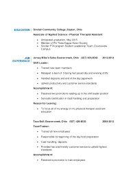 Sample Resume For Massage Therapist by Physical Therapist Resume Template Massage Therapy Resume