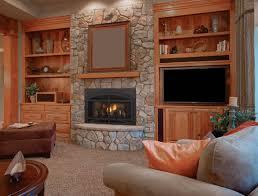 decoration ideas fancy brown mosaic tile brick wall around black