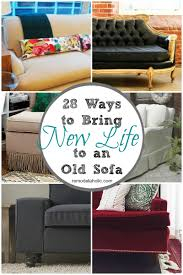 New Couch by Remodelaholic 28 Ways To Bring New Life To An Old Sofa