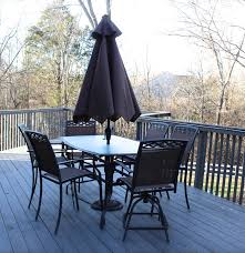 Vintage Tropitone Patio Furniture - summer winds patio table and chairs ebth