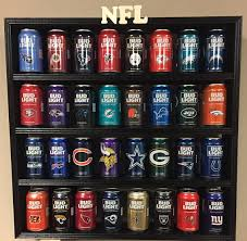 order nfl bud light cans wood display rack 2017 limited edition with 32 nfl bud light