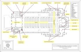 the floor plan of a new building is shown traditional church floor plan notable in classic st catherine new