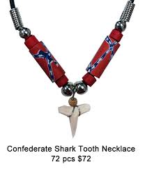tooth necklace images Confederate shark tooth necklace puka creations jpg