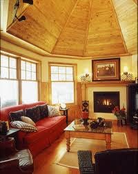 topped with wood ceiling details for even more rustic warmth