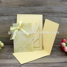 Invitation Pocket Lovely Transparent Yellow Wedding Invitation Pocket With Ribbon