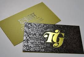 foil business cards decorative foil sting taste of ink