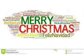 Merry Christmas Greetings Words Christmas Around The World Stock Image Image 34435931