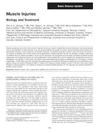 muscle injuries biology and treatment pdf download available