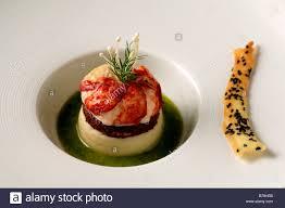 haute cuisine apéro breton lobster blackpudding and potato puree haute cuisine