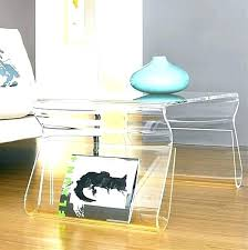 lucite waterfall coffee table decoration coffee table acrylic tables awesome square clear