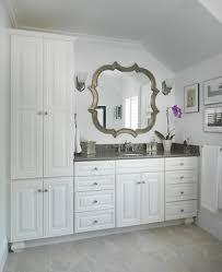 White Cabinets With Grey Quartz Countertops U0027s Bathroom Debut Bathroom Cabinets Pawtucket Ri Kitchen