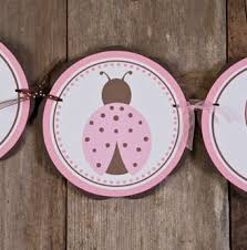 Pink And Brown Baby Shower Decorations Items Similar To Its A Baby Shower Banner Ladybug Baby