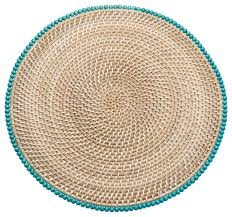 rattan placemats with wood set of 2 style