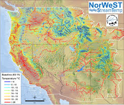 United States Temp Map by Norwest Stream Temperature Regional Database And Model Air