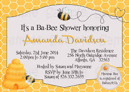 template bumble bee baby shower invitations