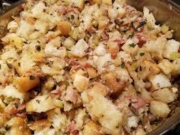 how to make a thanksgiving turkey with stuffing mushroom u0026 bacon stuffing inside nana u0027s kitchen