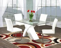 white glass dining room table sets sneakergreet com with red