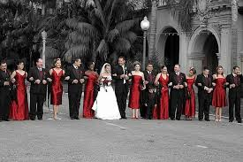stunning wedding red black u0026 white official couple