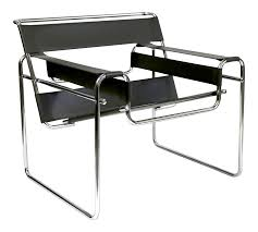 reproduction wassily chair marcel breuer black leather and chrome