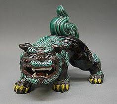 japanese guard dog statues large sancai glazed roof tile ming dynasty asian foo shishi