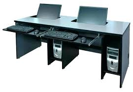 2 level computer desk 2 computer desk 2 person desk for home office full image for two