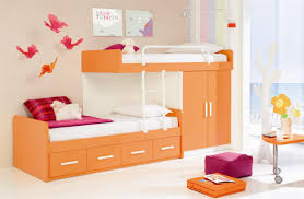 modern kids room awesome orange and white twin bunk bed modern kids beds wood