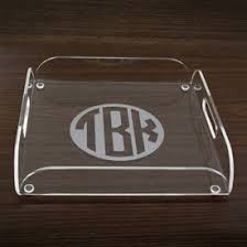 monogrammed trays personalized acrylic serving trays mad for monograms