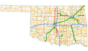 Map Of The United States Highways by Oklahoma State Highway 74 Wikipedia