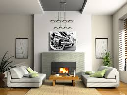 motorcycle chrome pipes canvas wall art