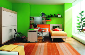 Light Green Bedroom - bedroom casual image of teenage lime bedroom decoration using